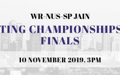 WR-NUS-SP Jain Debating Championships 2019 Finals